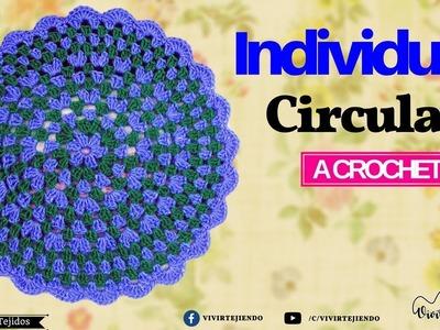 Tejiendo un Individual a crochet | Curso de tejidos a crochet | vivirtejiendo