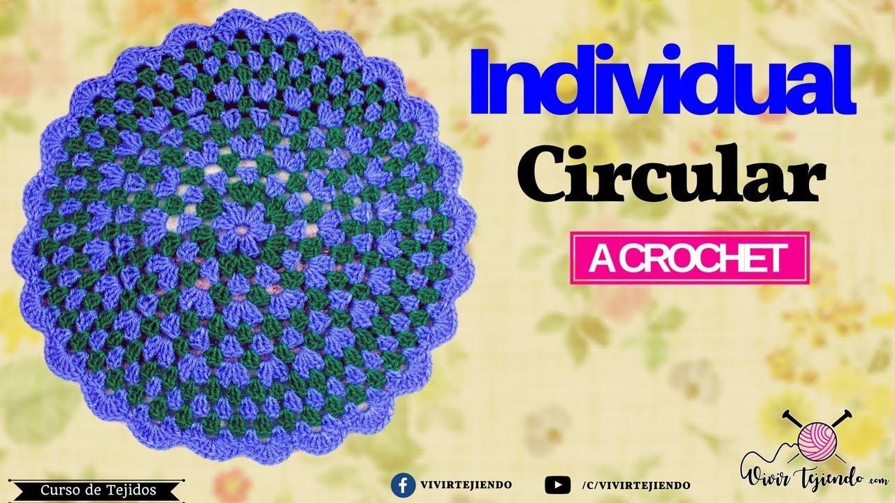 Tejiendo un Individual a crochet   Curso de tejidos a crochet   vivirtejiendo