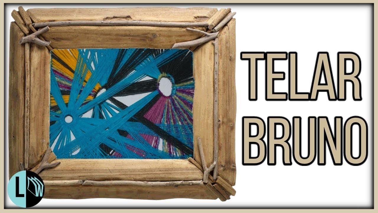 Telar Decorativo Bruno Con Argollas Tapiz Mural Tejido
