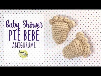 Tutorial Huella Pie Bebé Babyshower Ganchillo   Crochet