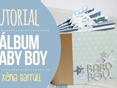 Tutorial mini álbum de bebé Baby Boy - Xènia