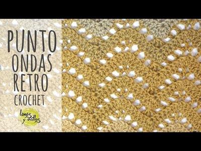 Tutorial Punto ZigZag Calado Retro Ondas Ganchillo | Crochet