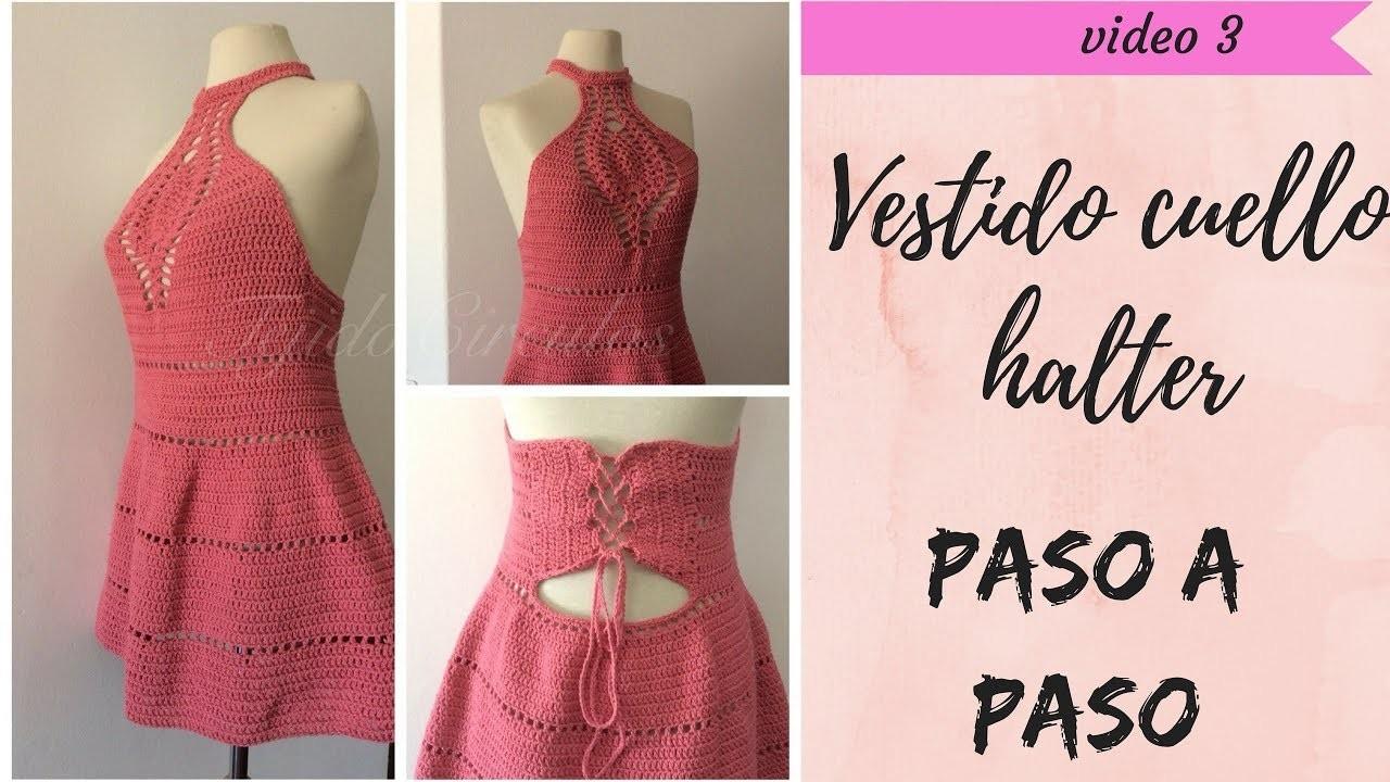 VESTIDO tejido al crochet para dama  Parte 2.3