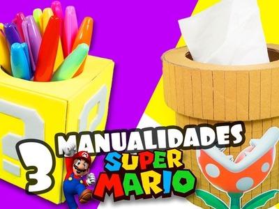 3 MANUALIDADES DE SUPER MARIO BROS|Manualidades Reciclaje|DIY