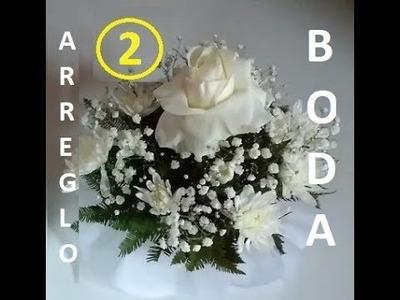 Arreglo floral para centro de mesa Blanco