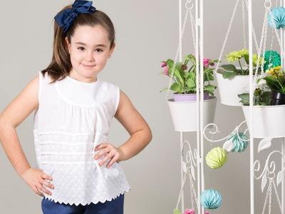 Blusa con canesu. REVISTA PATRONES INFANTILES Nº 6