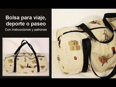 Bolso para viaje.  maletín o bolsa para deporte ♥