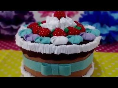 Caja de regalo en forma de pastel - Hazlo tú mismo! DIY