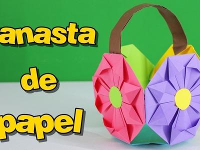 Canasta Para Huevos Manualidades.Basket Canasta De Papel Paper Basket Brendiorigami Cesta