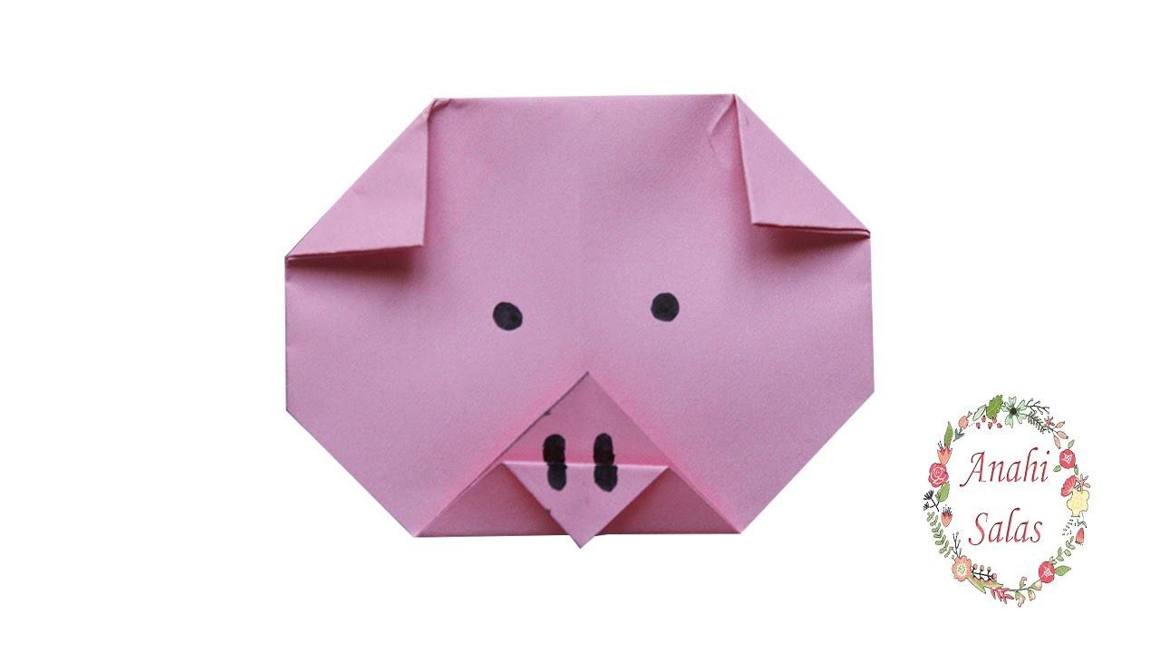 Cerdito | Origami (cabeza)
