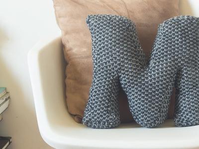 Cojín forma de letra. DIY. Letter pillow