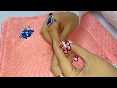Como bordar flores de lentejuelas en relieve - embroidery class