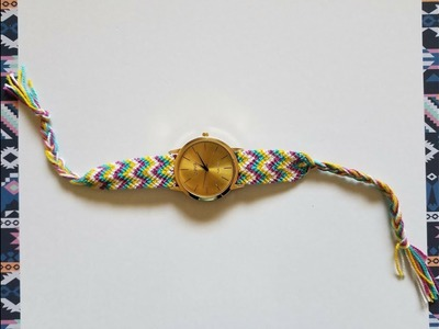 Como hacer el tejido para tu reloj. How to make friendship bracelet to watch