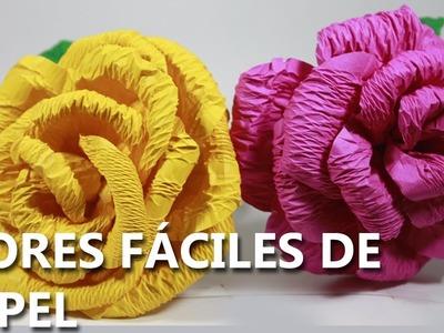 Cómo hacer flores de papel | fáciles y bonitas DE HACER | MANUALIDADES CON PAPEL