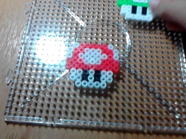 ♥Como hacer seta de Mario bros con hama beads♥