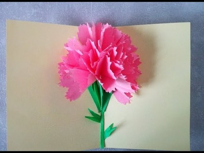 Como Hacer TARJETA POP UP FLORES EN 3D.  Manualidades para el Día de la Madre