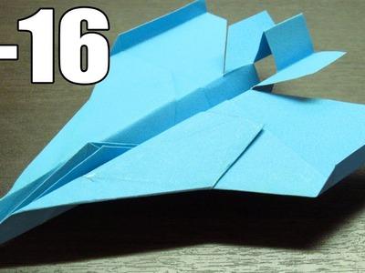 Como hacer un avion de papel F-16 (Muy fácil) | How to make a paper plane