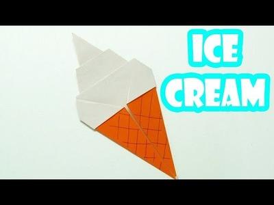Como hacer un HELADO DE PAPEL Super Cool | ORIGAMI ICE CREAM