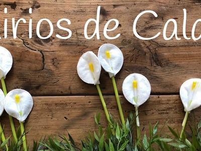 Como hacer un lirio FLORES diy  | Manualidades para el día de la MADRE