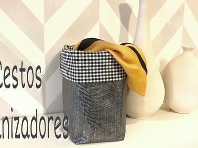 Cómo hacer una cesta de tela.DIY.Cestos para organizar