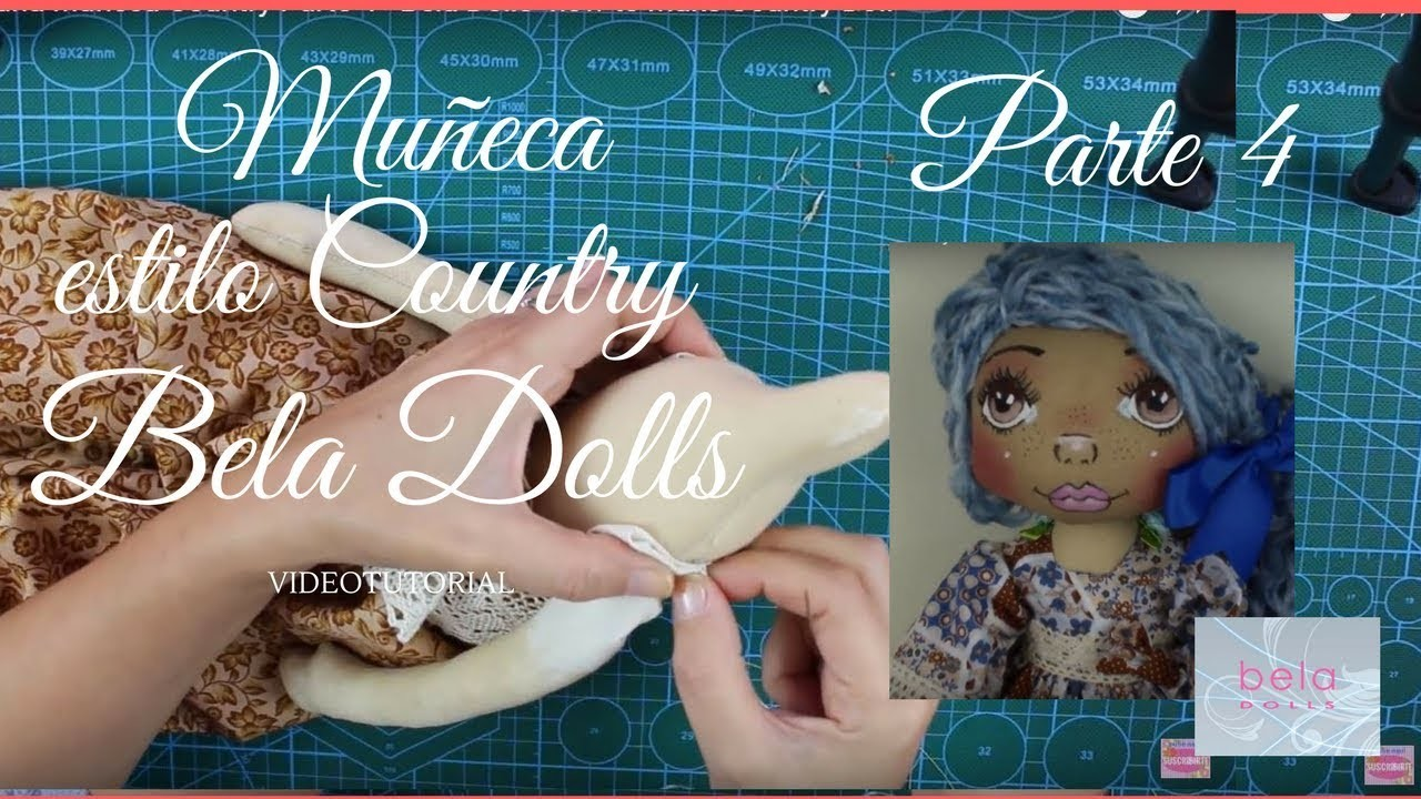 Como hacer una Muñeca Country Parte 4 - Bela Dolls -how to make Country Doll