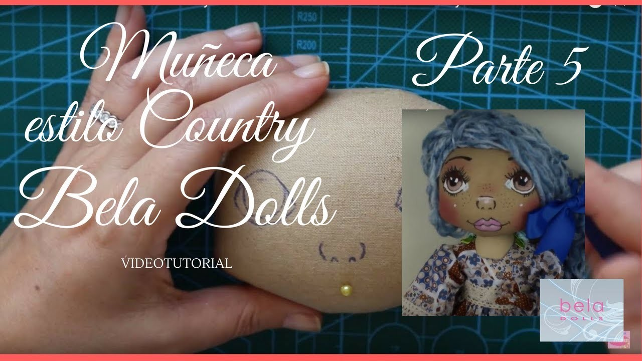 Como hacer una Muñeca Country Parte 5 - Bela Dolls -how to make Country Doll