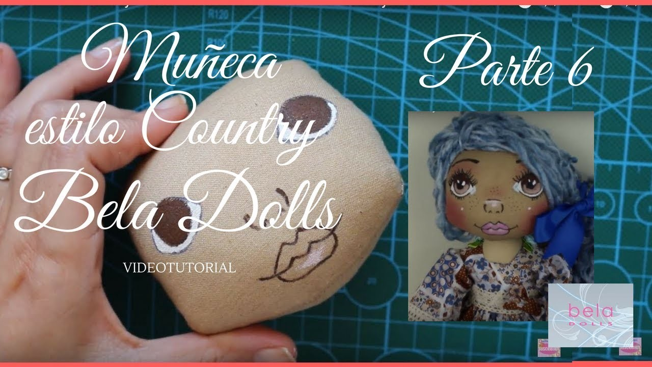 Como hacer una Muñeca Country Parte 6 - Bela Dolls -how to make Country Doll