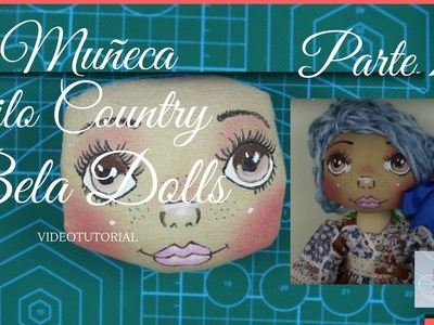 Como hacer una Muñeca Country Parte 7 - Bela Dolls -how to make Country Doll