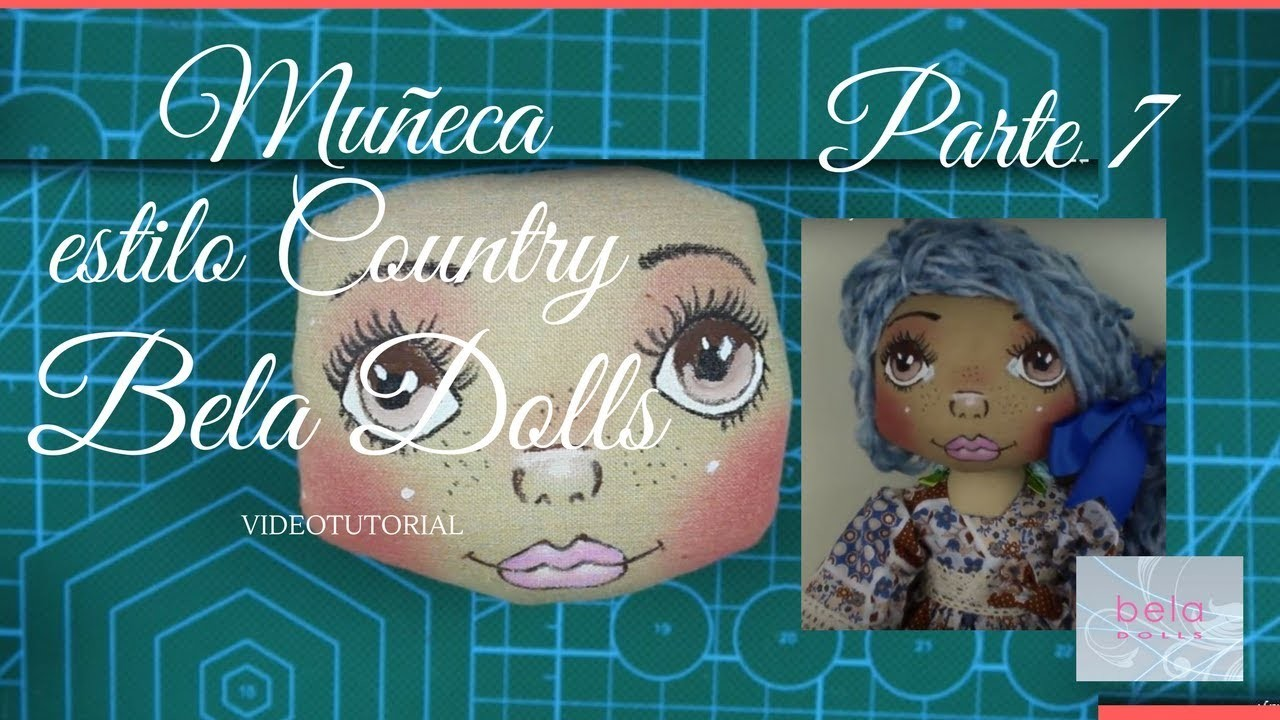 Como hacer una Muñeca Country Parte 7 - Bela Dolls -how to make Country Doll