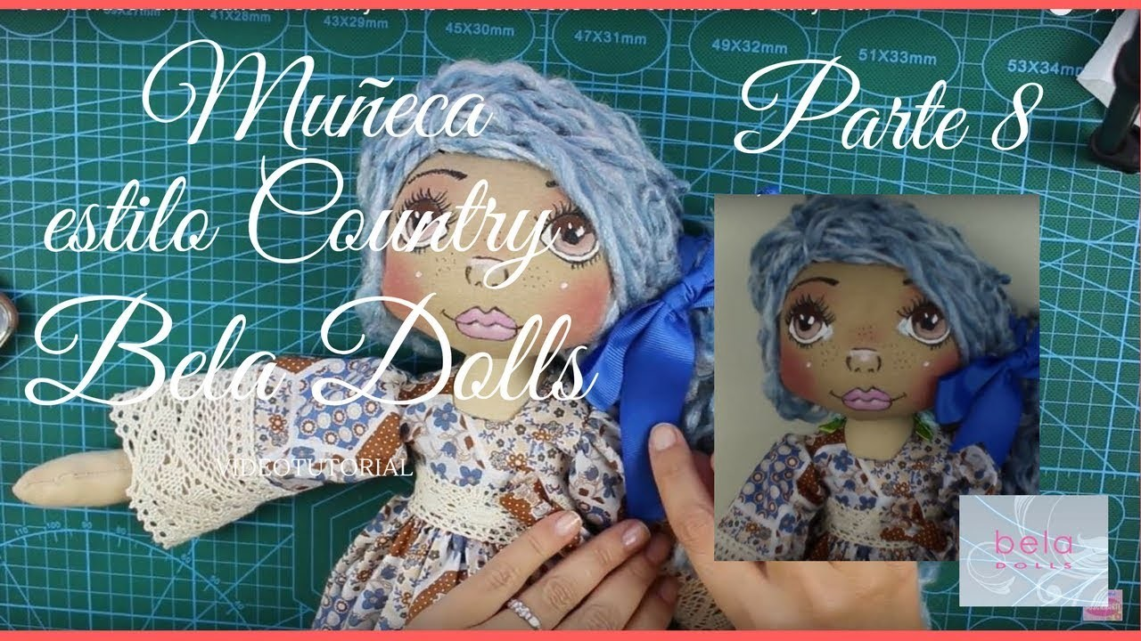 Como hacer una Muñeca Country Parte 8 - Bela Dolls -how to make Country Doll