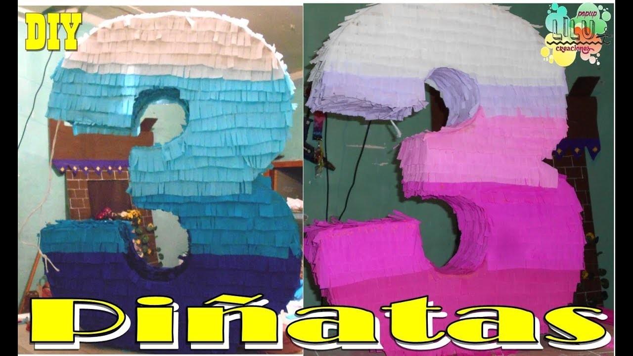 Como hacer una piñata de números  | DIY  |  Decoración.