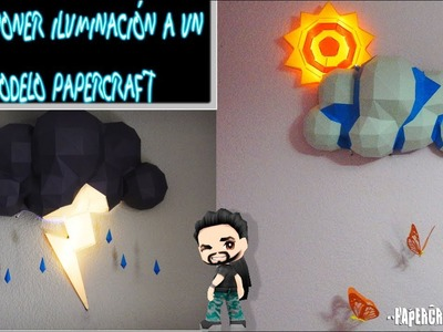 Como poner iluminación led a un modelo papercraft (taller de papercraft)