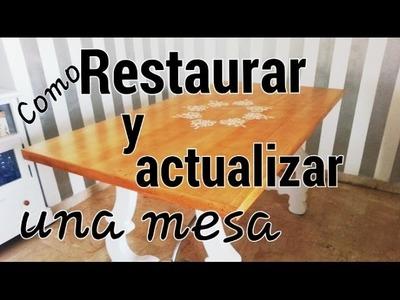 Como restaurar y actualizar una mesa