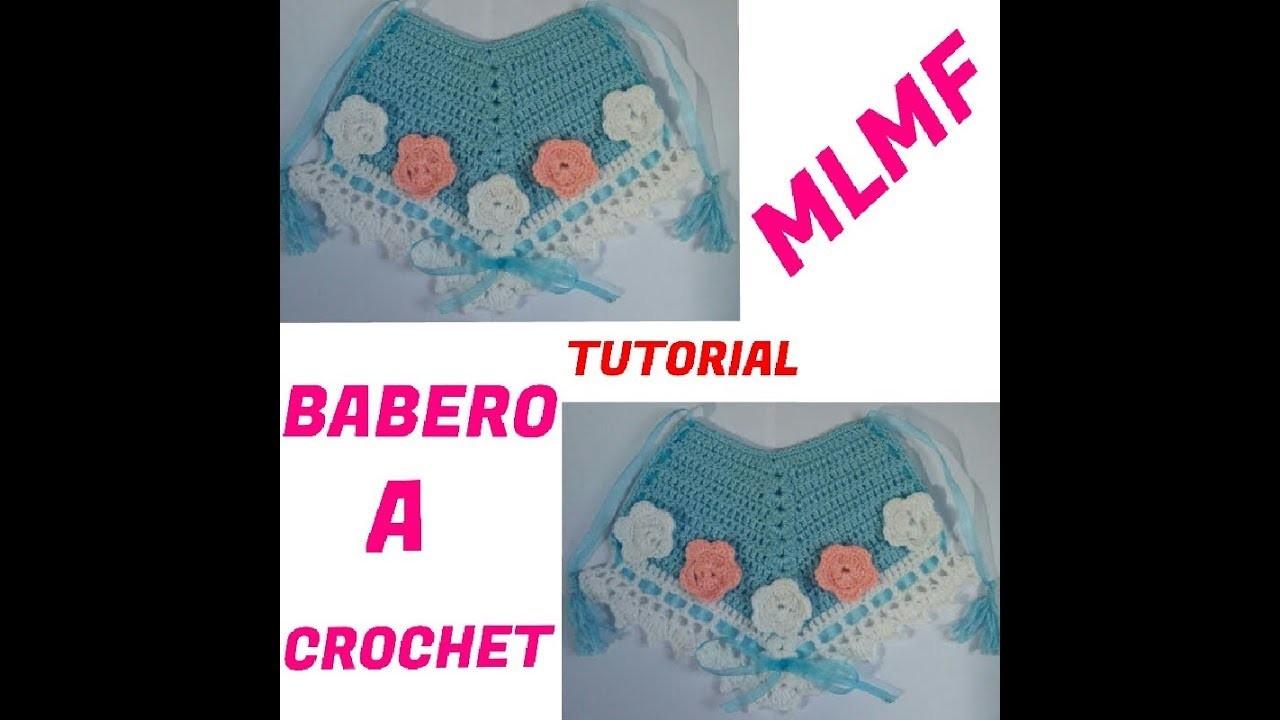 Crochet: Babero Para Niña - Manualidades La Manita Felíz.