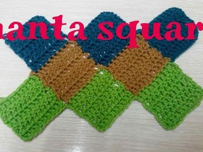 CROCHET Como tejer una manta Square paso a paso