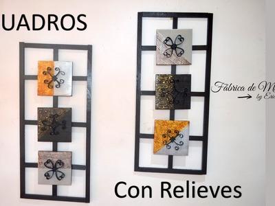 Cuadros decorativos con relieves. DIY. Decorative paintings with reliefs