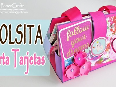 DIY Bolsita Porta Tarjetas | Organizador de Tarjetas | Luisa PaperCrafts