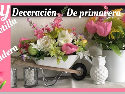 DIY carretilla y Regadera decorativas de primavera