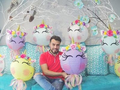 #DIY ,  Como hacer lamparas #unicornio (colors) ????????????