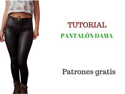 DIY Cómo hacer un pantalón pretina alta  corte y confección