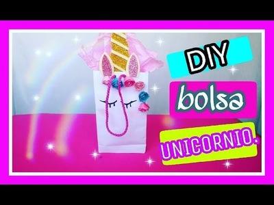DIY -Cómo hacer una bolsa de papel.unicornio bolsa de regalo fácil.Ana Lau