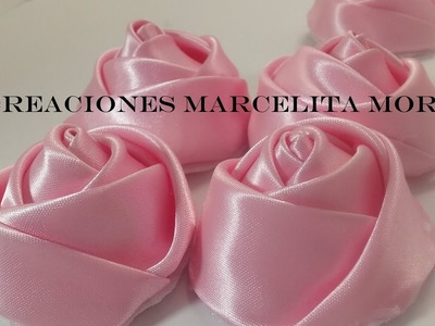 DIY-Como Hacer unos Botones Flor Rosas. How To Make Botton Flower Rose CV.