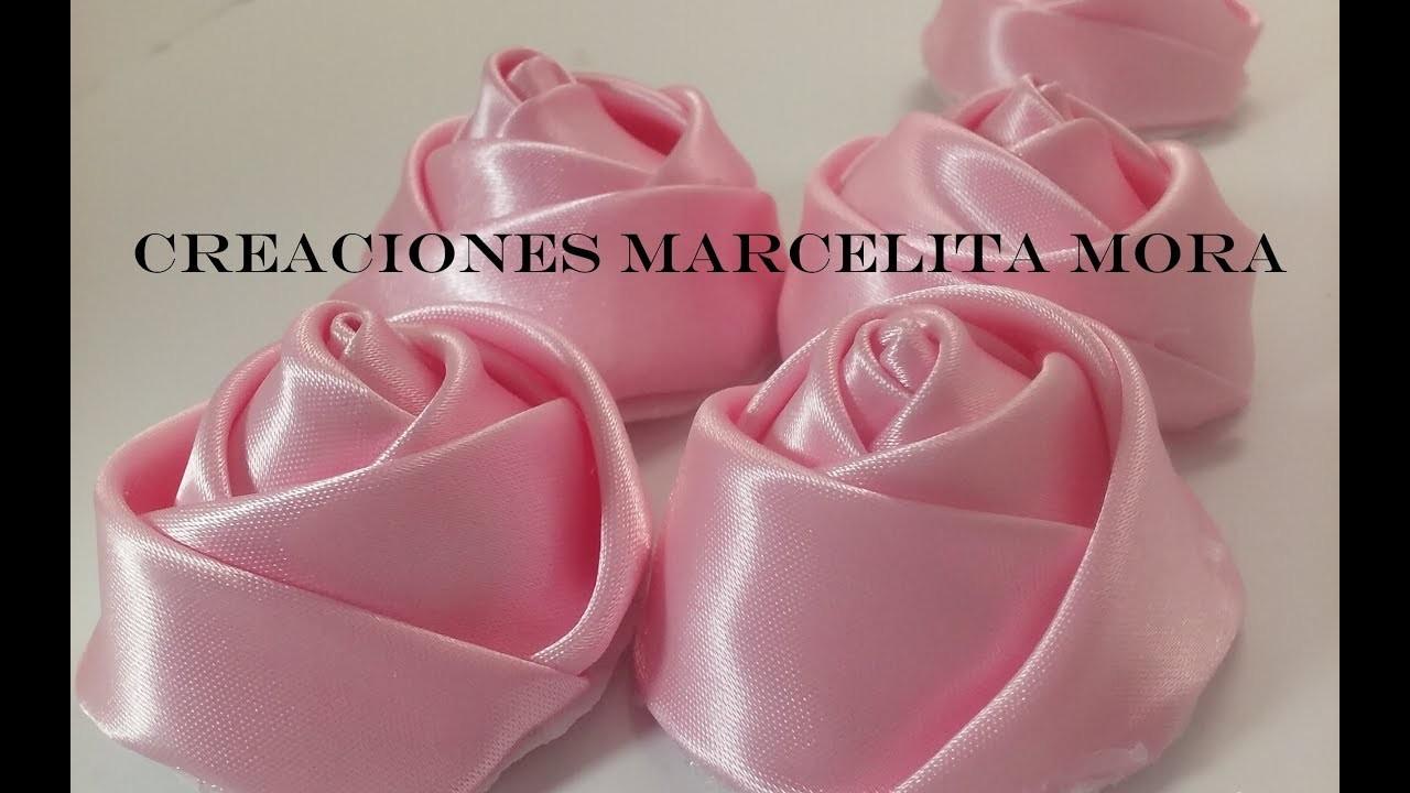 DIY-Como Hacer unos Botones Flor Rosas. How To Make Botton Flower Rose CV.