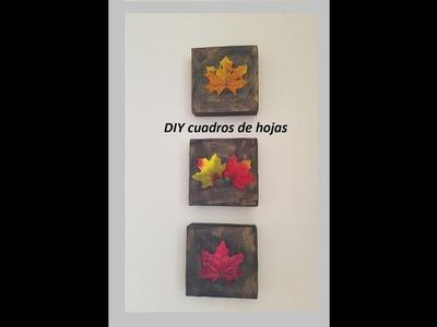 DIY cuadros de hojas con reciclaje