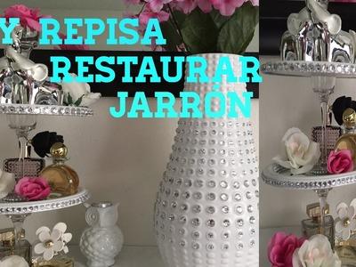 DIY organizador de perfumes y restaurar un jarrón