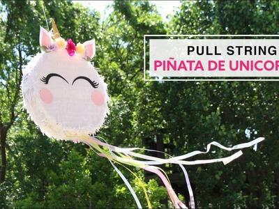 DIY Pull String Piñata de Unicornio Collab. Carte Fini