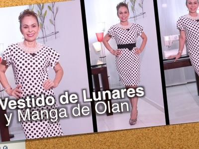 DIY Vestido de Lunares y Manga en Olan   Polka dot and Sleeve Dress in Olan-Omaira tv