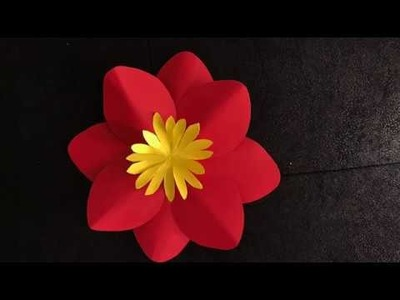 Flor pequeña hecha en papel - Small flower made in paper