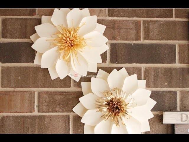 Flores de Papel muy faciles de hacer y económicas