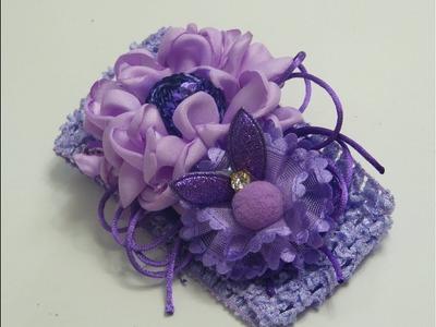 Flores de Tela para tiaras ,Tiaras con flores,Como decorar flores con lentejuelas